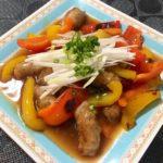 豚バラと里芋と筍の煮込み