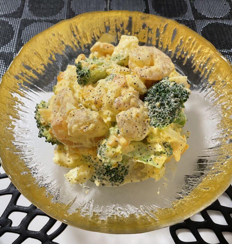 エビ ブロッコリー 卵サラダ