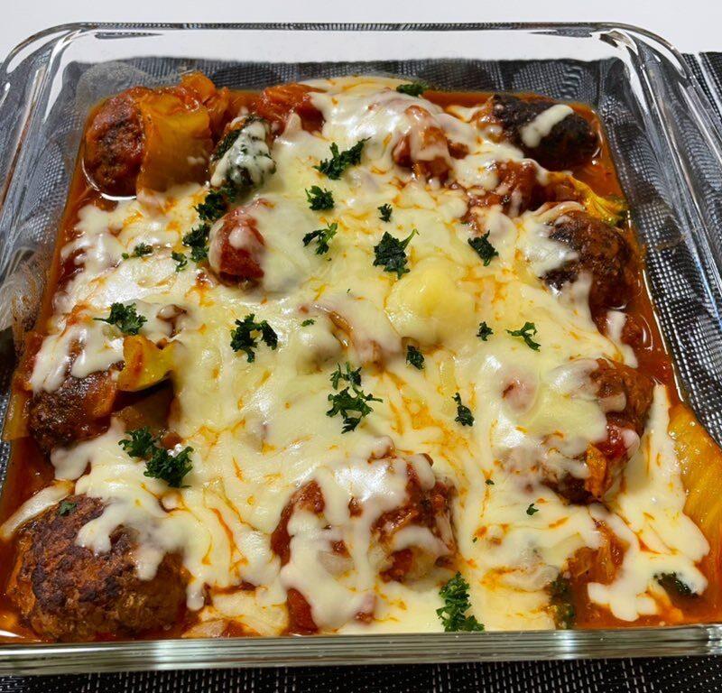 ミートボール 白菜 トマトチーズ煮込み