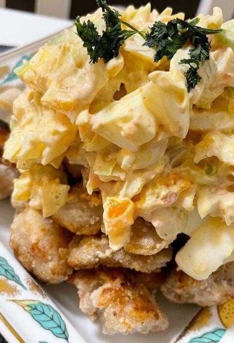 鶏むね肉 キャベツ紅生姜 タルタル
