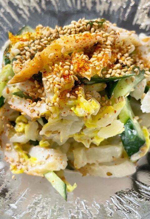 白菜とちくわ きゅうり やみつきサラダ