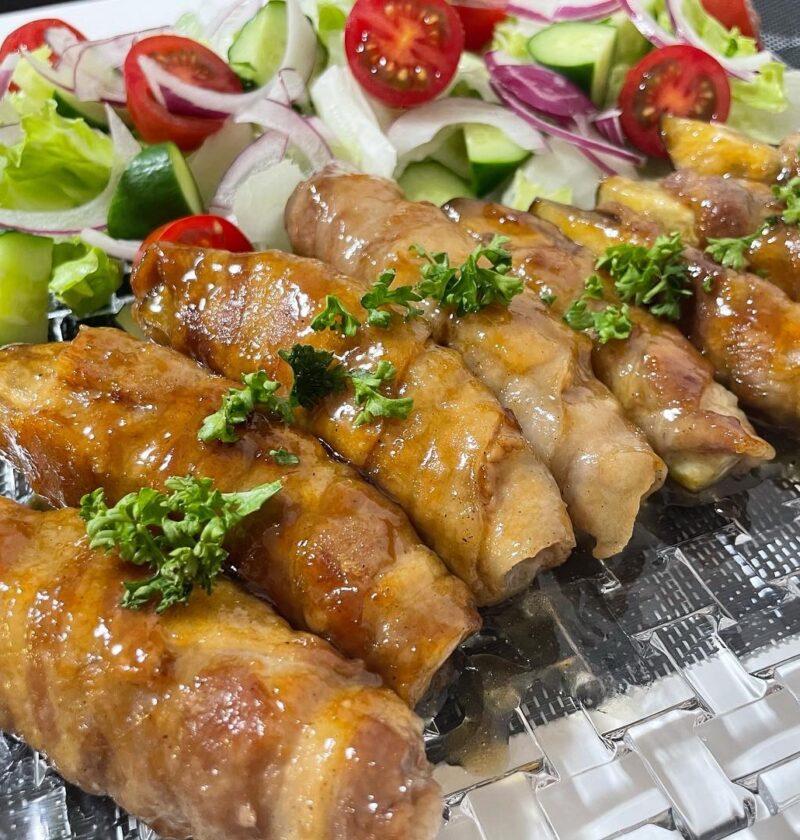 茄子の豚肉巻き バルサミコ