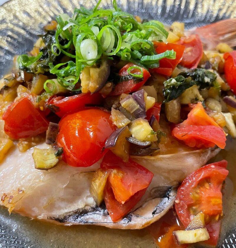 魚 茄子 香味ソース