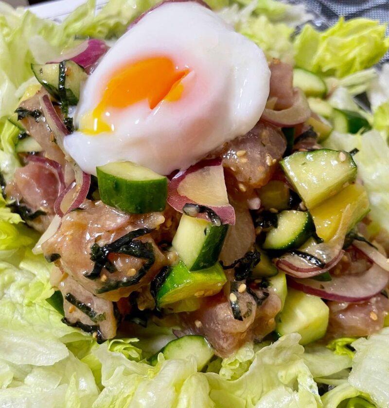マグロのポキ風サラダ