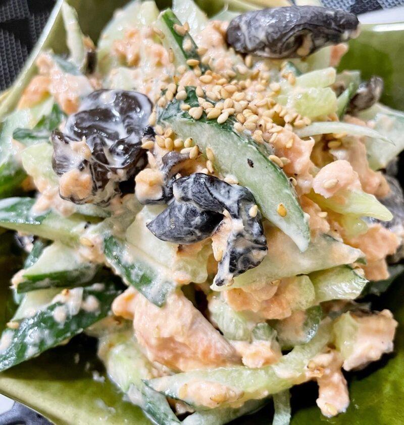 鮭 キクラゲ サラダ